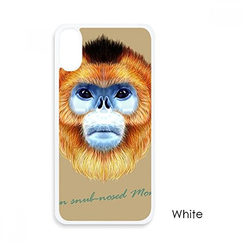 nkey Animal For iPhone X Cases White Phonecase Apple Cover Case Gift ()