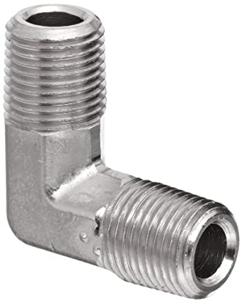 Polyconn PC125NB-2 Nickel Plated Brass Pipe Fitting, 90