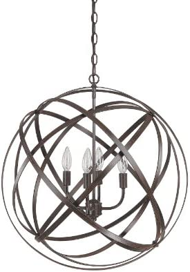 Capital Lighting 4234RS 4 Light Pendant in Russet Finish from the Axis Collection.