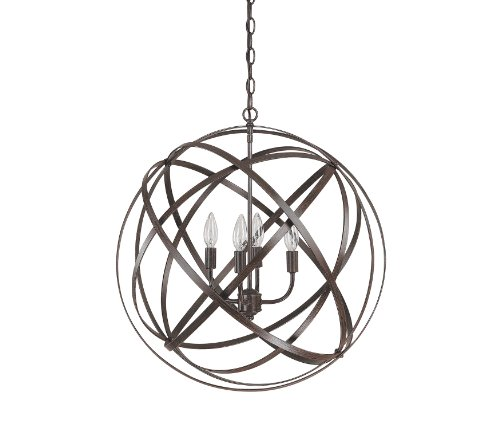 Capital Lighting 4234Rs 4 Light Pendant In Russet Finish From The Axis Collection