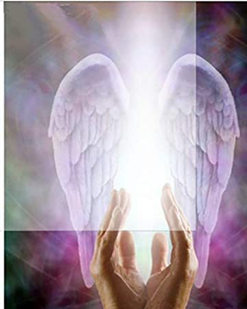 Diamond Painting 5D Diy Full Square Roundreligious Beautiful Praying Hands Guardian Angel Wings Embroidery Cross Stich Set 40 * 30Cm