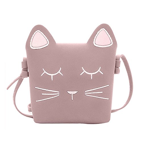 Booph Little Girls Purses Cat Adjustable Strap Kids Toddler Shoulder Crossbody Bag for Girls 2-7T Pink (Cat Toy Gift Purse)