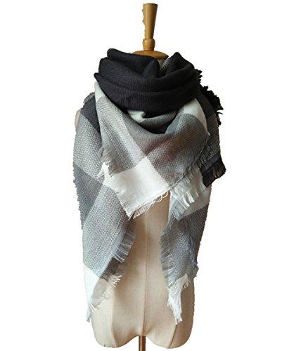 Lanzom Tartan Blanket Stylish Pashmina