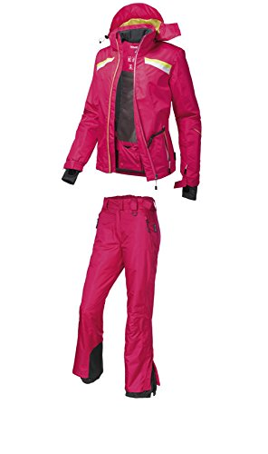 2tlg. Funktioneller Damen Skianzug Skijacke + Skihose pink/pink (38)