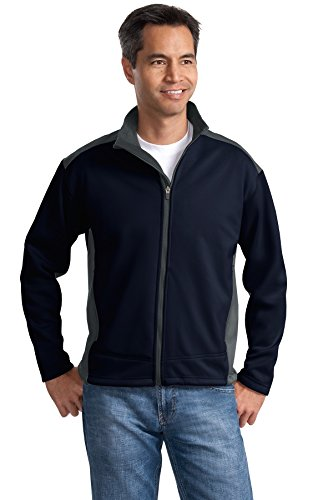 Port Authority Men's Two Tone Soft Shell Jacket S Navy/Graphite (Two Tone Shell)