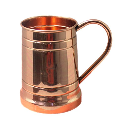 Authentic Captain Morgan Costumes (STREET CRAFT 100% Authentic Copper Moscow Mule Mug Copper Moscow Mule Mugs Cups Capacity 20 Ounce Tanker Shape)