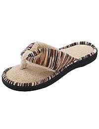 RockDove Memory Foam Flip Flops for Women, Spa & House Thong Slippers w/ Indoor Outdoor Sole