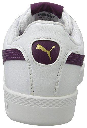 white Basses L Blanc Femme Puma dark Purple Smash Sneakers WYvAAUn