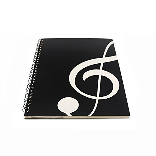 - Blank Sheet Music Composition Manuscript Staff Paper Art Music Notebook Black 50 Pages 26x19cm (Black Music)