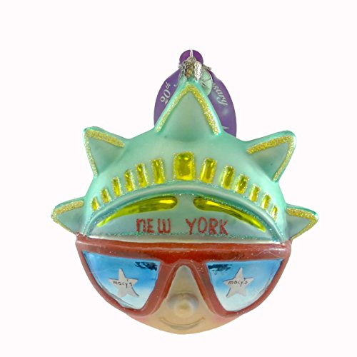 Christopher Radko NEW YORK VISION 2005 Blown Glass Ornament Dated Statue Liberty ()