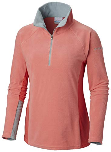 Columbia Women's Glacial IV Half Zip, Soft Fleece with Classic Fit, Bloom/Red Coral, ()