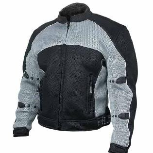 Xelement CF-511 Men's Mesh Sports Armored Motorcycle Jacket XX-Large Gray