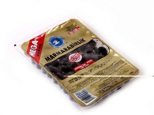 Gemlik Type Black Olives MEGA – 1.1lb (500g) by Marmara Birlik