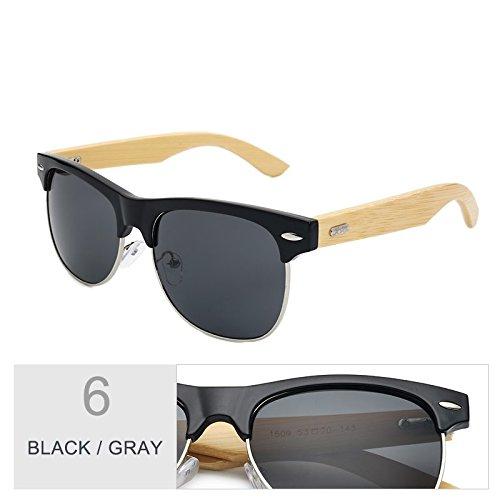 Gray Color Negro Sol De TIANLIANG04 Gafas Unisex Gafas Clásico Mirroring Oro De Black aw7vqx8