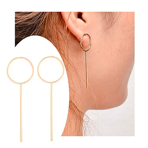 palettei Modern Bar Hoop Earrings - Big Circle Earrings Bar Design Modern Jewellery