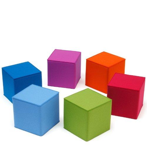 Kinder Sitzmöbel quadratisch Filz viele Farben Hey Sign QUART KID, Hey Sign_Farbe:44 - Tannengrün