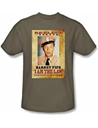 Andy Griffith Show T-shirt - Barney Fife I Am the Law Adult Tee