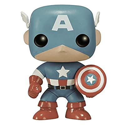 Funko POP Marvel: Captain America Sepia Tone 75th Anniversary Action Figure ( Exclusive): Toys & Games