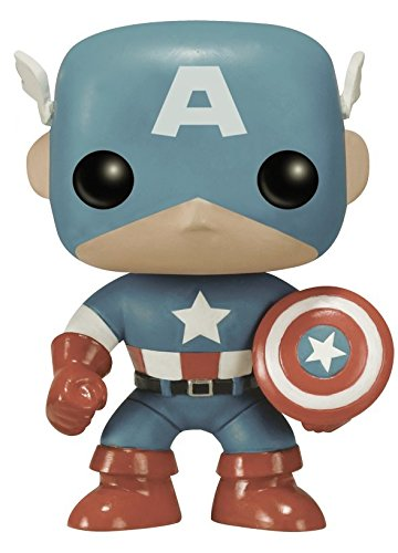 Captain+America Products : Funko POP Marvel: Captain America Sepia Tone 75th Anniversary Amazon Exclusive Action Figure