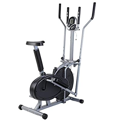 Homgrace Home Elliptical Bike 2 In 1 Cross Workout Trainer Exercise Fitness Machine Upgraded Standing Riding Bicycles
