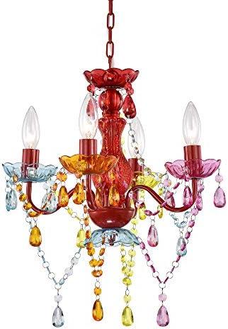 Mini Chandelier Crystal Chandelier Lighting Red Chandeliers Small 4 Light Chandelier