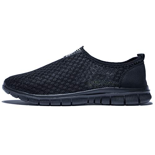 KENSBUY Mens Breathable and Durable Sports Running Shoes Lightweight Mesh Walking Sneakers (8 M US Men, Black/Black) by KENSBUY (Image #3)