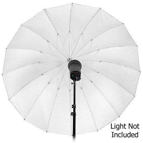 Fotodiox Pro 16-rib, 72'' Black and White Reflective Parabolic Umbrella with Neutral White Diffusion Cover