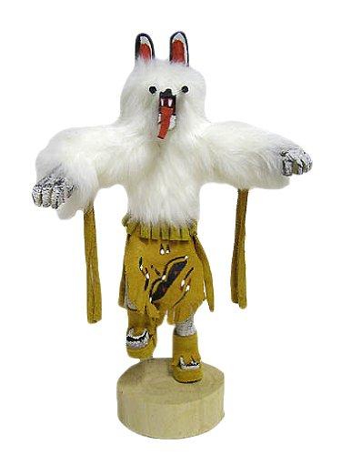 "10"" Navajo Bear Kachina Doll - Authentic Native American (Gold-Tans)"