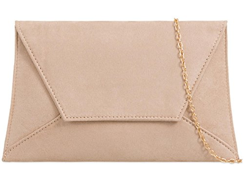 Purse Plain Prom Nude Party Bridal Clutch Wedding Suede Hand Zes Evening Bag Ladies PBOwqdPnH