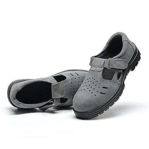 Blesiya Eu Sicurezza B shock Sandalo Anti Pelle Antiscivolo Gomma Uomo Puntale 43 Scarpe P4qwqRd