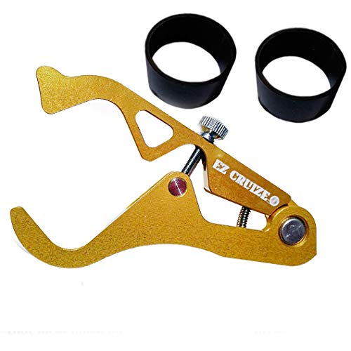 (EZ Cruize - Motorcycle Cruise Control - Universal Throttle Assist - Wrist / Hand Grip Lock Clamp - Harley, Honda, Suzuki, Yamaha, Kawasaki, Indian, Triumph, Ducati, Aprilia, KTM, BMW (Yellow Gold))