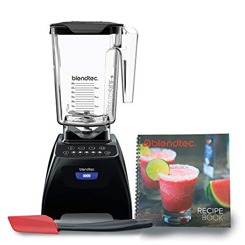 Blendtec C575A2301A-A1AP1D1 Classic 575 Countertop blender, 90 oz, Black/Spoonula/Recipe Book