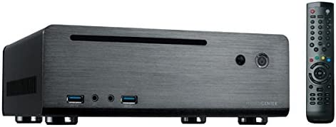 MS-Tech MC-80BL - Caja HTPC (120 W, mando a distancia, USB), negro ...
