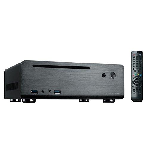 MS-Tech MC-80BL/120W PC-Gehäuse (mini-ITX, 1x 5,3 Zoll externe, 1x 2,5 Zoll interne, 2x USB 3.0) schwarz