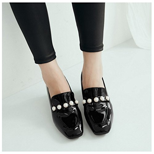 Coolcept Black Zapatos Cuadrada Bombas Mujer Punta rqTwrP