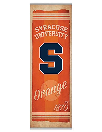 (NCAA Syracuse Orangemen Canvas Banner by FanPanels. Instant Man Cave, Home and Office Decor. Celebrate Game Day with an)