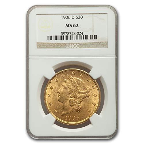 1906 D $20 Liberty Gold Double Eagle MS-62 NGC G$20 MS-62 NGC