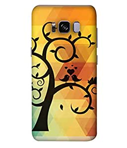 ColorKing Samsung S8 Plus Case Shell Cover - Tree Birds 002 Multi Color