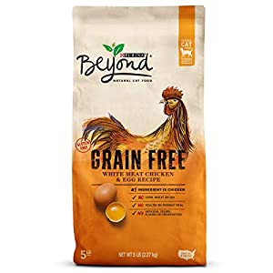 Purina Beyond Grain Free, Natural Dry Cat Food; Grain Free White Meat Chicken & Egg Recipe - 5 lb. Bag 80