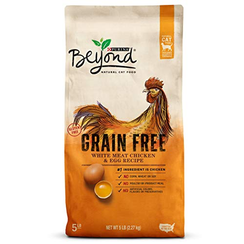 - Purina Beyond Grain Free, Natural Dry Cat Food; Grain Free White Meat Chicken & Egg Recipe - 5 lb. Bag