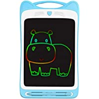 Nrpfell 12 Inch Colorful Toddler Drawing Doodle Board Kids Scribbler Board Erasable Writing Tablet LCD Drawing Pads-Blue