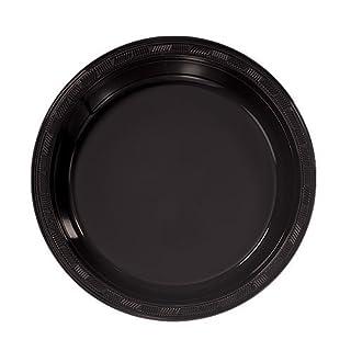 Hanna K. Signature Collection 50 Count Plastic Plate, 7-Inch, Black (B001DZ0G6E) | Amazon price tracker / tracking, Amazon price history charts, Amazon price watches, Amazon price drop alerts