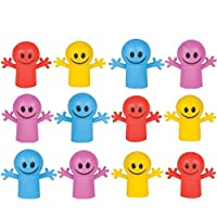 """Neliblu 1 Dozen 2"""" Smile Happy Face Finger Puppets for Children - Finger Puppets for Small Hands - Puppet Show Sets, School Playtime , Stocking Stuffers, Party Favors for Kids, Goody Bag Fillrers"""