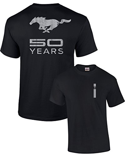 Ford T-Shirt Mustang 50 Years Pony-Black-XL