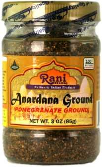 Rani Anardana (Pomegranate) Ground, Indian Spice 3oz (85g) ~ All Natural | No Color | Gluten Free Ingredients | Vegan | NON-GMO | No Salt or fillers