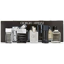 Giorgio Armani Variety for Men-5 Pc Mini Gift Set 0.17-Ounce Attitude EDT Splash, 0.14-Ounce Emporio Armani Diamonds EDT Splash, 0.17-Ounce Acqua Di Gio EDT Splash, 0.14-Ounce Armani Code EDT Splash, 0.17-Ounce Armani Eau Pour Homme EDT