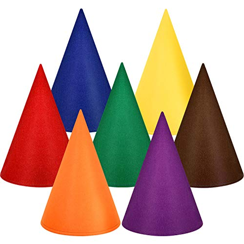 SATINIOR Gnome Hats Dwarf Hats Gnome Cone Colorful Elf Hat for Halloween Accessory Party Supplies (Multicolor, 7 ()