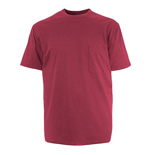 Insect Shield Men's UPF Dri-Balance Short Sleeve Pocket Tee, Burgundy, X-Large