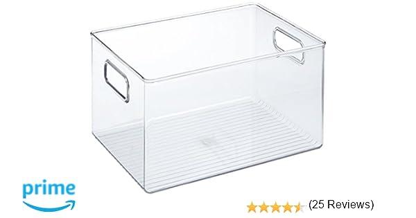 iDesign Caja transparente con asas, organizador de cocina ...