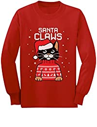 Santa Claws Cat Ugly Christmas Sweater Toddler/Kids Long sleeve T-Shirt